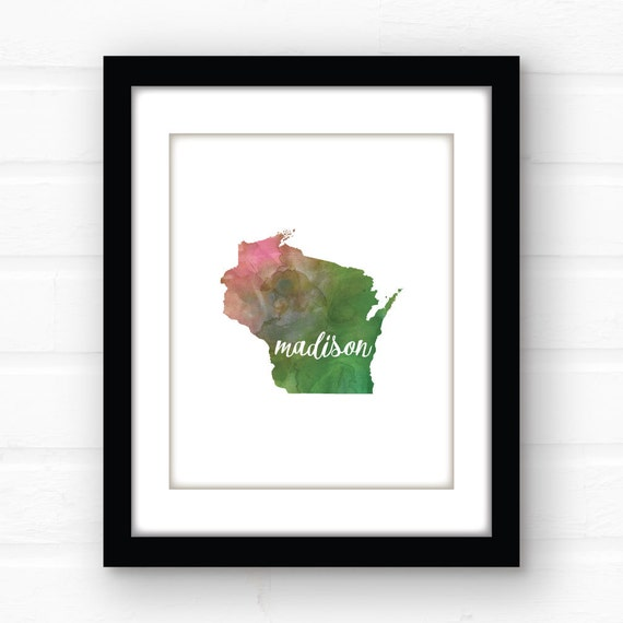 Madison Wi Art Madison Wisconsin Home Decor Wisconson Art
