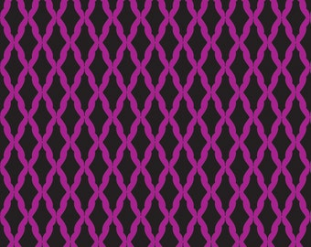 05061 -Camelot Fabrics Kabloom Harlequin in black and purple  color    - 1 yard