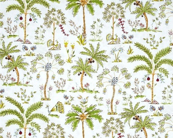 25201  Dena Designs  Haute Girls Palm Treea in White  color  PWDF209 - 1 yard