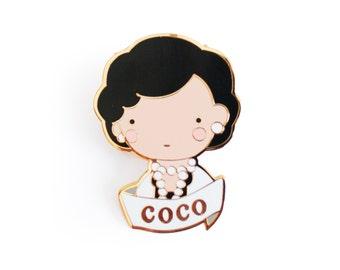 Coco Chanel Brooch Pin Badge Enamel