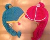 Shimmer and Shine Inspired Shimmer Shine Hat Ponytail girl beanie
