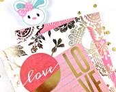 Felt Applique Planner Paper Clip | White Bunny Planner Accessories, Bookmark Clip | Journal Clip Journal Markers | Calendar planners