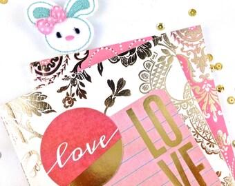 Felt Applique Planner Paper Clip | White Bunny Planner Accessories, Bookmark Clip | Novelty Fridge Magnet | Lapel Brooch | Calendar planners