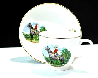 Royal Canadian Mounted Police Cup & Saucer Lord Nelson Pottery England