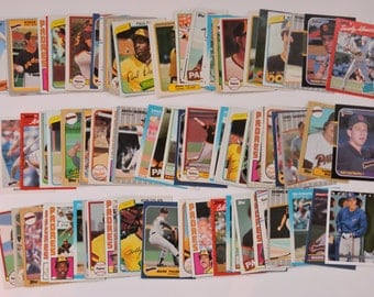 San Diego Padres - Lot of 100 Assorted Vintage Baseball Cards