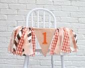 Boy 1st Birthday banner - 1st birthday banner - fall birthday party - pumpkin 1st birthday - boy birthday banner - birthday banner -