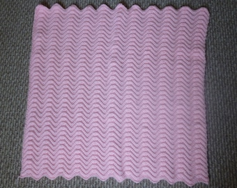 Baby Pink Crocheted Baby Blanket