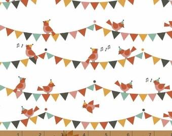 Animals - Singing Birds ORGANIC by Petit Collage from Windham Fabrics