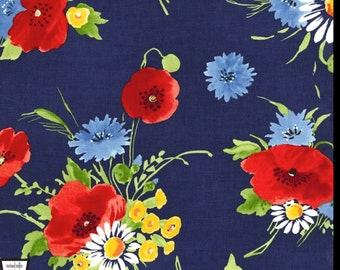 Bette's Bouquet - Navy Blue from Michael Miller