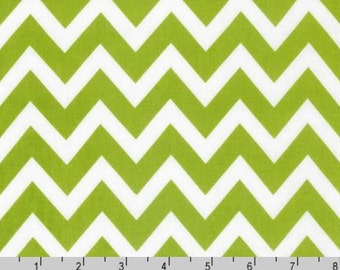 Remix - Lime Chevron by Ann Kelle from Robert Kaufman