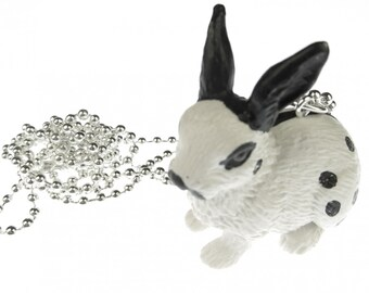 [BUNDLE] Rabbit chain necklace of Miniblings 80 cm rabbit Hare Bunny points sw