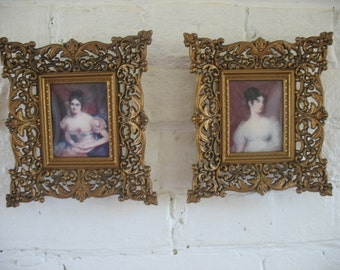 Vintage Cameo Creations Framed Pictures - Countess