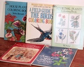 Set of 5 USED coloring books for adults or children