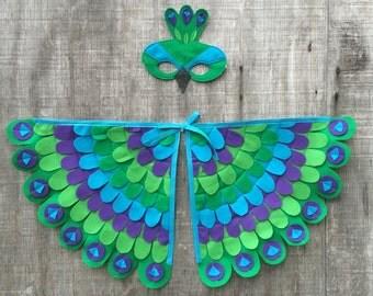 Peacock Costume!! Wings + Mask // Fun flying adventures // Tree + Vine
