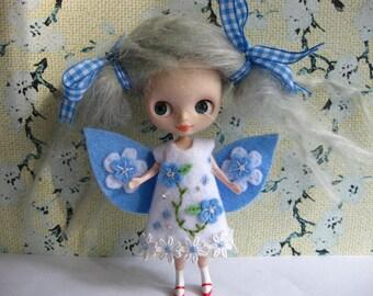 Flower Fairy Dress (Light Blue & White)