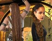 CHESTNUT brown DREAD yarn hair FALL 112 dreadlocks dreads 24''/ 60 cm long Medieval Renaissance Larp wig Fairy gypsy wicca Viking costume