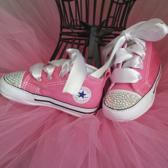 Pink Converse Baby Girls Bling Shoes Matching By