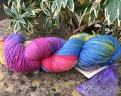 "100grms hand painted merino/silk yarn "" rainbow bright """