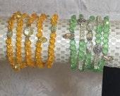Quintuplet Crystal Bracelet Sets (5) in Beautiful Colors for Spring