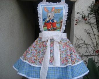 Bunny Tales Womens Pin Up Retro Apron