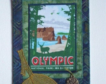 Olympic National Park Card Postcard Birthday Her Him Friend Housewarming Thank You Frame Hi Room Decor Wish You Were Here Gift Fabric 4x6
