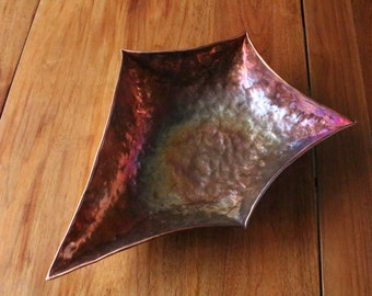 Pointy 5 sided copper bowl