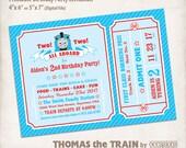 Thomas the Train Birthday Invitation, DIGITAL FILE, Personalized Printable Thomas and Friends, Thomas Birthday, Train Invite, Train Ticket