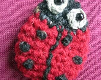 Crochet Pattern for Scarlet the Ladybird Brooch