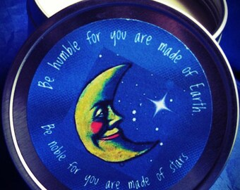 Soy Moon Candle ~ Home and Living Candle ~ Massage Lotion Candle From Distracting Me ~ Crescent Moon Be Noble Candle