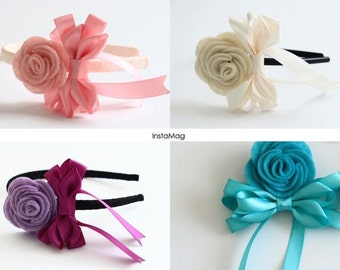 Rose with bow Headbands
