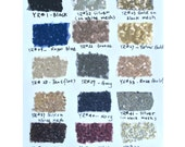 Bigger Swatch Pieces for Sequined Fabric, with 15 Colors, Large Swatch Pieces Available(RenzRags)