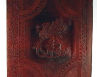 Leather Tooled Griffin Journal/Bos