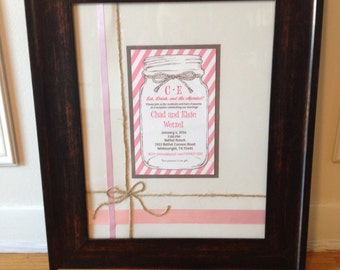 CUSTOM Framed Wedding Invitation