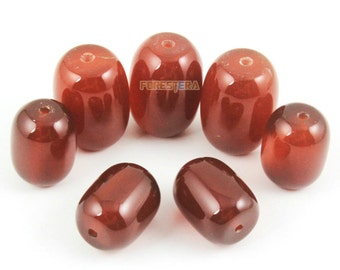 10x14mm Red Agate Bead Red Barrel Agate Bead for Jewelry (BEAD-A34-01)
