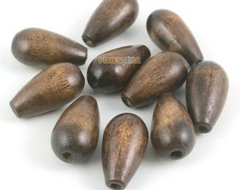 25x14mm Wood Bead Drop Wood Bead for Jewelry (BEAD-A52-25x14)