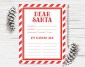 Instant Download - North Pole Letter to Santa - Christmas, Holiday, Wish List, Kids, Fun, Printable, Activity, PDF, DIY