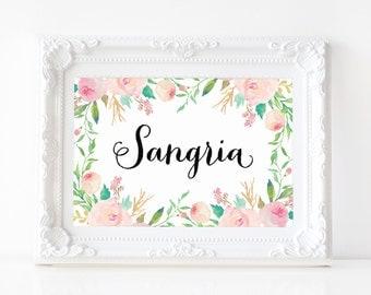 """Instant Download - Spring Shower Sangria Print - 5""""x7"""""""