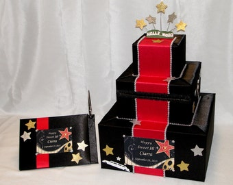Hollywood theme Card Box and matching Guest Book with Pen