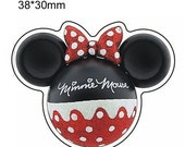 ON SALE Minnie Mouse Planar Resin Cabochons Flat Back Scrapbooking Hair Bow Centers Card Making Crafts Embellishments