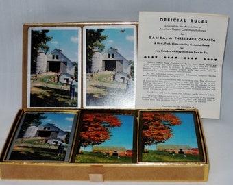 Vintage Canasta Triple Deck Playing Cards, USPCC
