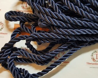 9 Ft. per pack of 5mm Shiny Cotton Rope Cord in Navy Blue