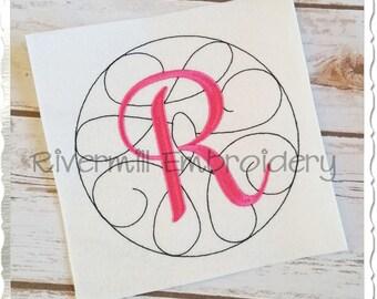 Swirl Monogram Machine Embroidery Alphabet - 3 Sizes