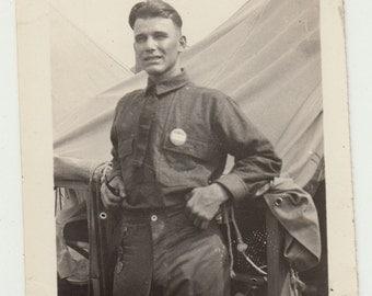 Vintage/Antique photo of a man in uniform