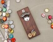 Magnetic Bottle Opener- Walnut