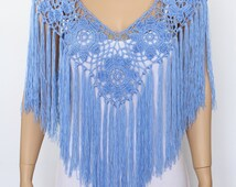 Crochet poncho pattern Fringe poncho PDF Rustic Poncho Wedding poncho cape