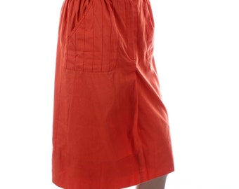 Vintage 80s Vingt Reve Rusty Orange Knee Length Pencil Skirt UK 12 US 10