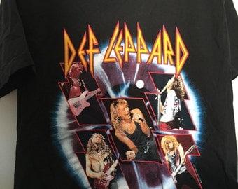 Vintage Def Leppard 90s Tour T-shirt L Rock Concert