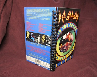 Def Leppard In the Round In Your Face VHS Tape Box Notebook