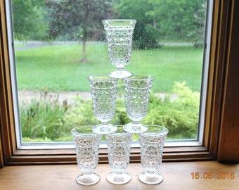 6 -  Fostoria Juice Goblets in American Pattern.