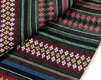 Thai Woven Cotton Fabric Tribal Fabric Native Fabric by the yard Ethnic fabric Aztec fabric Craft Supplies Woven Textile 1/2 yard (WF67)